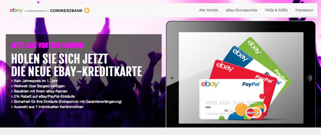 ebay kreditkarte commerzbank